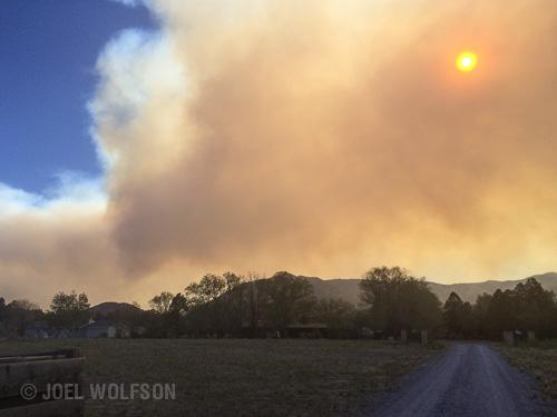 photography photograph of smoke from Slide Fire in Oak Creek Canyon Arizona AZ
