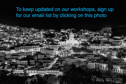 Joel Wolfson Photography workshops in Sicily