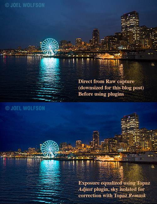 Seattle_night_skyline_Before_After