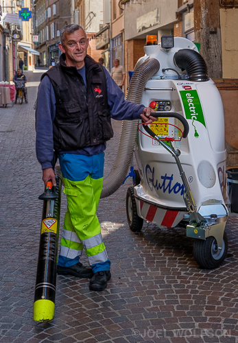 The machine to clean the streets was almost as intriguing as the man running it. In light of the fact that my French is virtually nonexistent this man was very accommodating when I asked to photograph him. This is in the town of Gaillac, our home for the next 3 weeks. Thanks for letting us stay at your house Michael!! Fuji X-Pro2 Fujinon 35mm f2.0 1/160 sec. f8.0