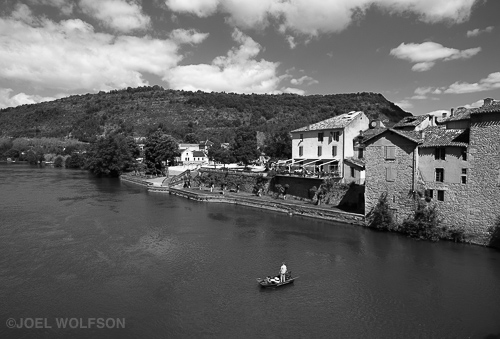 This is a wonderful village on a river in the Midi-Pyrénées region of southern France. I was surprised how little tourism there was in this gorgeous village. The fisherman kept moving his boat so I waited patiently and eventually he was in an optimum position for my shot. I don't think there's much of a shot here without the fishermen and boat. Although this scene could benice in color I thinkblack and white hasthe feel I want. Other than bringing up the highlights for contrast, no real changes from the Acros + R preset in Lightroom. For a broad scene like this I used the Fuji 14mm f2.8 lens (21mm FF equiv.), 1/480 sec., f10, ISO 400 on X-Pro2 in RF mode.